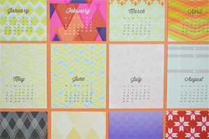 Avie Designs 2013 Desk Calendar