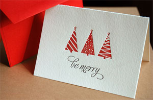 Be Merry Letterpress Card