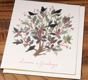 Black Bird Wreath Card by Becca Stadtlander for Red Cap Cards
