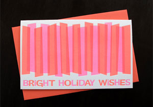 Bright Wishes Letterpress Card