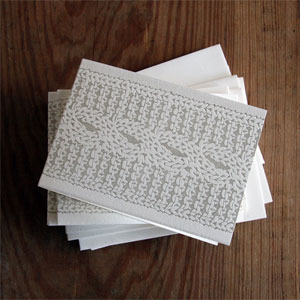 Cable Knit Letterpress Card