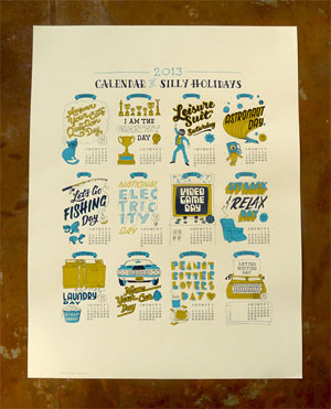 Calendar of Silly Holidays by Dirty Bandits