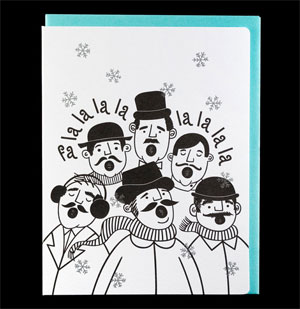 Carolers Letterpress Card by Dude &amp; Chick