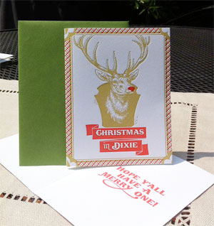 Christmas in Dixie Letterpress Card