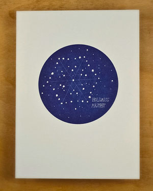 Constellation Letterpress Card