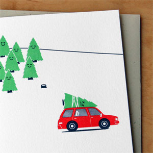 Dead Tree Letterpress Card