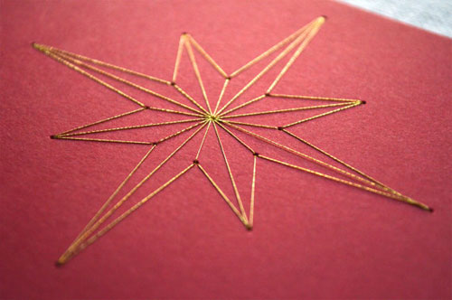 Hand Embroidered Holiday Cards