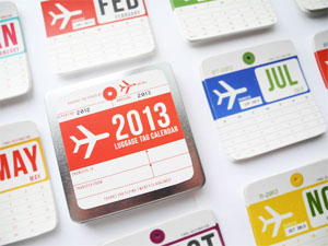 Vintage Luggage Tag Calendar by Girl in Gear