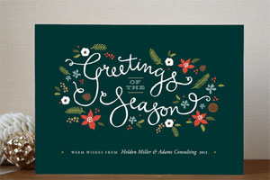 Greetings of the Season Holiday Card