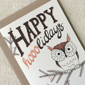 Happy Hooolidays Card