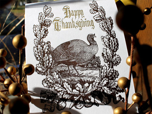 Happy Thanksgiving Letterpress Card