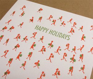 Holiday Crowd Letterpress Card