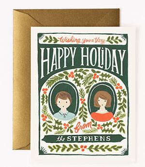 Custom Illustrated Holiday Berries Card by Rifle Paper Co.