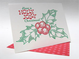 Holly Jolly Letterpress Card