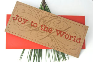 Joy to the World Letterpress Card