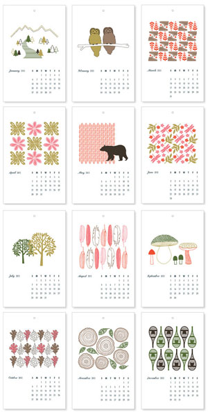 Into the Woods Calendar by Laura Macchia