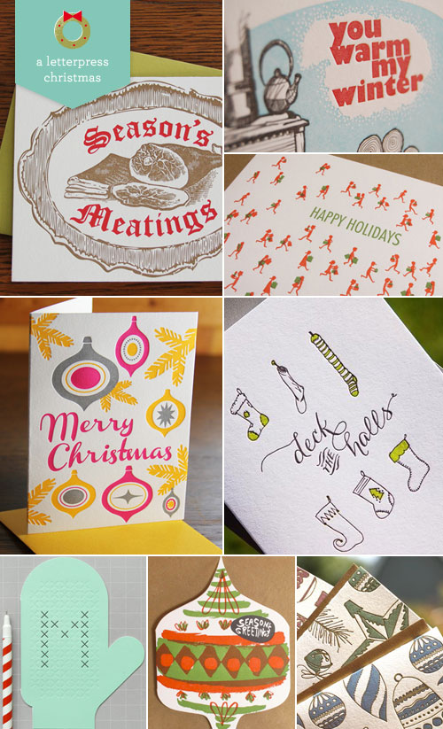 A Letterpress Christmas Greeting Cards