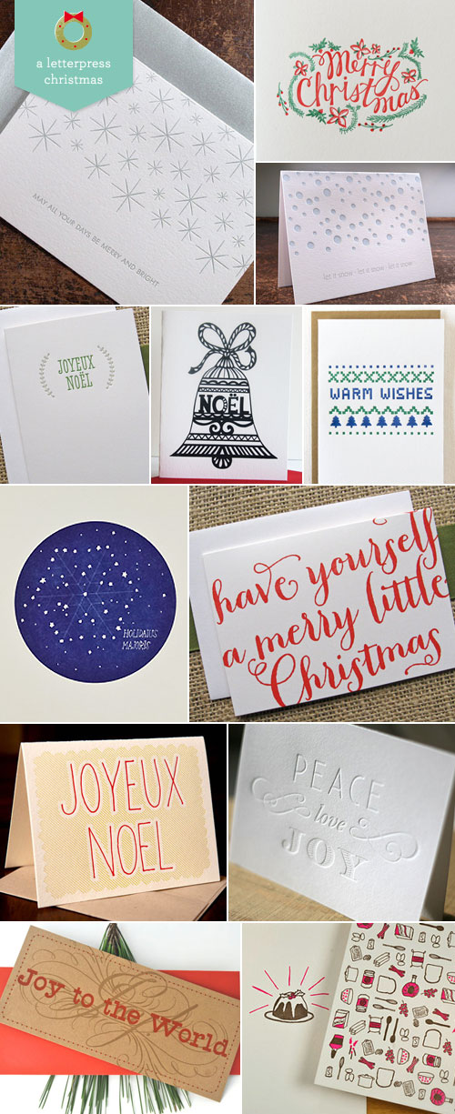 Letterpress Christmas / Holiday Cards