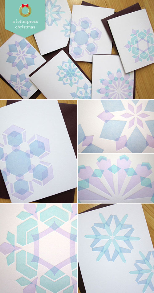 Letterpress Snowflake Cards by Studio SloMo