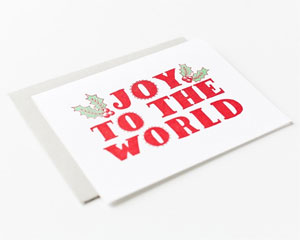 Joy to the World (Botanic) Letterpress Card