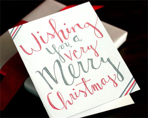 Wishing You ... Letterpress Card