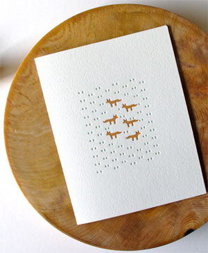 Little Fox Letterpress Card