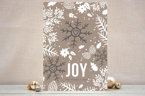 Love Flakes Holiday Cards