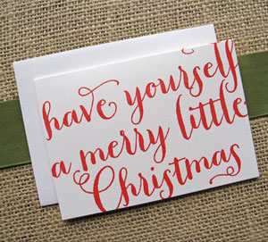 Merry Little Christmas Letterpress Card