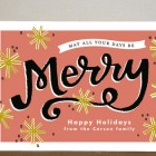 Merry Snowflakes Holiday Cards