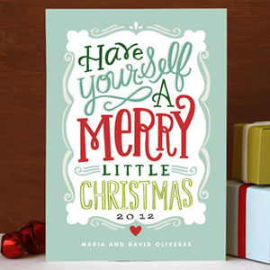 Merry Typography Card