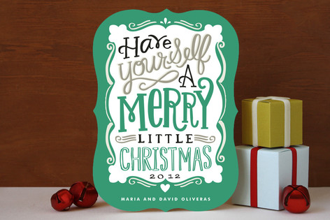 Merry Typography Holiday Cards