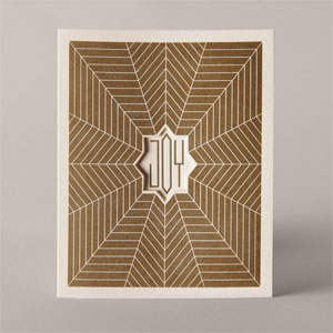 Joy Letterpress Card