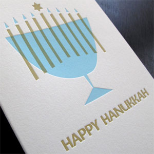 Happy Hanukkah Letterpress Card