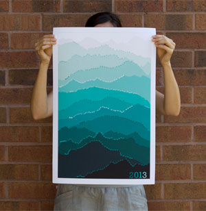 Mountain Calendar by Pam Lostracco