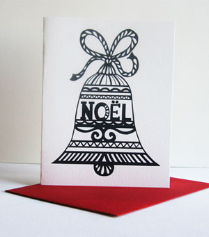Noel Bell Letterpress Card
