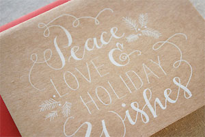 Holiday Wishes Engraved Card