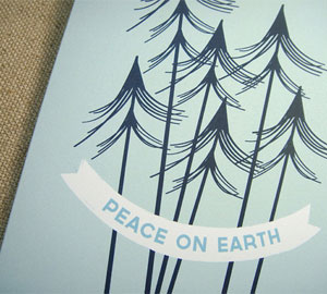 Peace on Earth Card by Two Pooch Paperie
