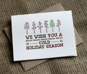 Pine Beetle Letterpress Card