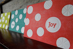 Polka Dot Christmas Letterpress Cards