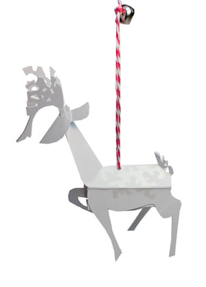 Reindeer Pop-Up Ornament