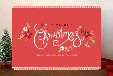Ribbon Noel Christmas Cards