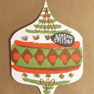 Season's Greetings Letterpress Card