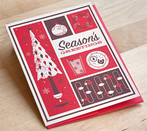 Season's Greetings Screenprinted Card