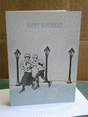Skaters Letterpress Card