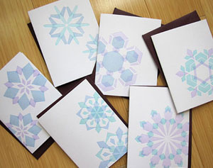 Studio SloMo Letterpress Snowflake Cards
