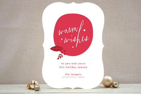 Stylized Ornaments Holiday Cards