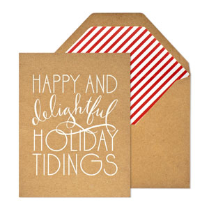 Sugar Paper Letterpress Holiday Cards