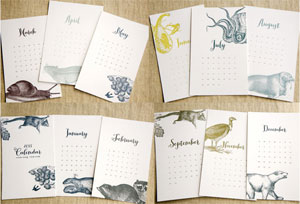 Spoon & Sailor Letterpress Calendar