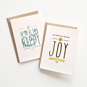 Typographic Holiday Cards