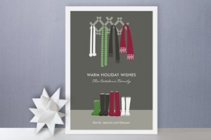 Warm Winter Scarves Holiday Cards